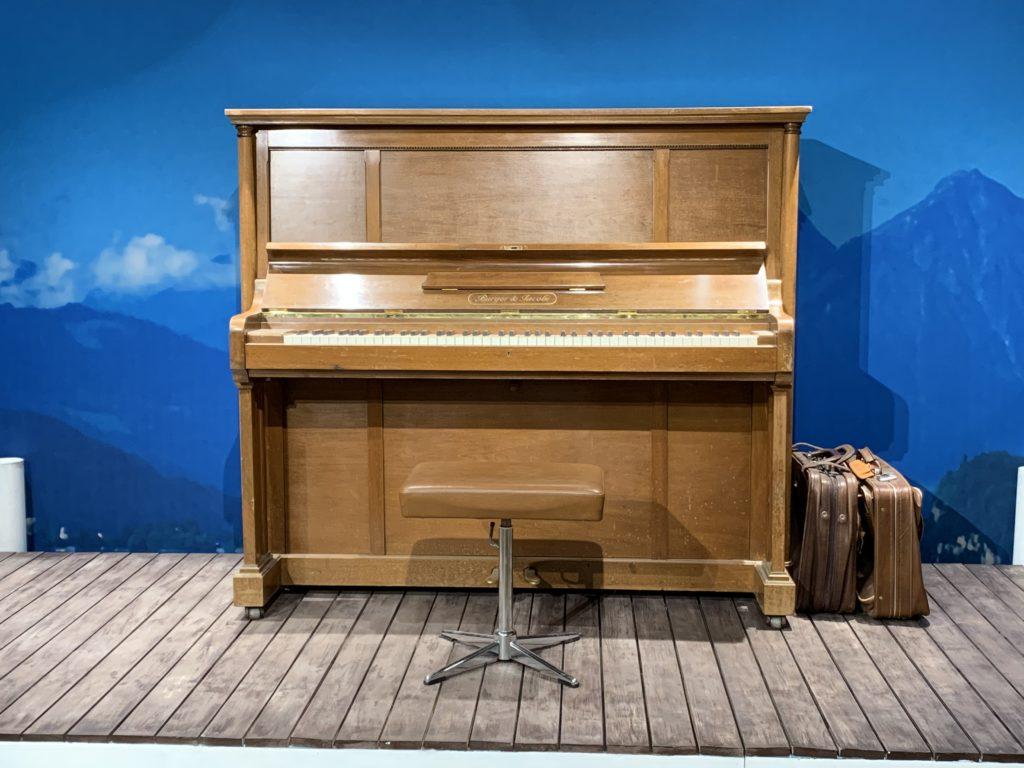 実際に使用されたピアノ